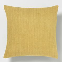 Solid Silk Hand-Loomed Pillow Cover - Horseradish | West Elm