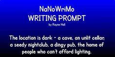 Rayne Hall,  2015 NaNo Writing Prompt