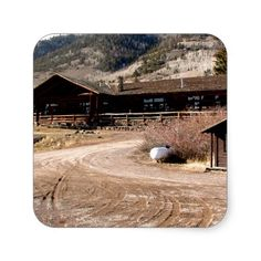 Cabin on the Mountain Sticker
