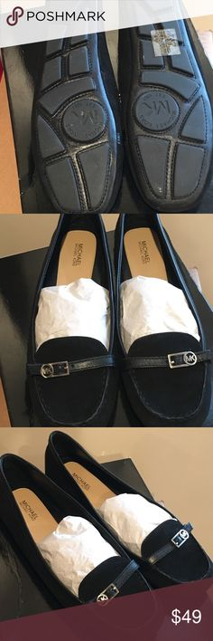 This shoes are not my size Michael kors flat shoes Moc black suede pre owned MICHAEL Michael Kors Shoes Flats & Loafers