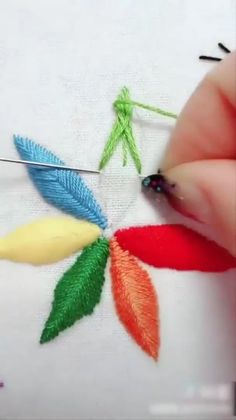 Amazing techniques and ideas about embroidery and stitching. Amazing techniques and ideas about embroidery and stitching. Hand Embroidery Videos, Embroidery Stitches Tutorial, Sewing Stitches, Learn Embroidery, Silk Ribbon Embroidery, Crewel Embroidery, Hand Embroidery Patterns, Embroidery Techniques, Embroidery Kits