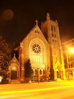 Christ Church Cathedral, at night. gorgeous in Nashville :)