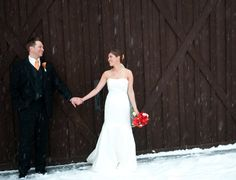 One of a Kind Winter wedding.    Devil's Thumb Ranch. Grand County, Colorado.