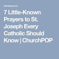 7 Little-Known Prayers to St. Joseph Every Catholic Should Know | ChurchPOP