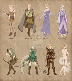 ranger girl outfits / Isil ref sheet by Ithilloth on deviantART