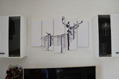 Výzdoba a dekorování místností je skvělá věc. Kdo by se v tom nevyžíval :D Fotky i článek najdete na blogu.  http://magic-beauty-life.blogspot.cz/2018/01/vyzdoba-bytu-s-pixerscz.html  #blogger#ad#deer#blackandwhite#painting