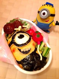 Mysterious Thief glue, minion bento