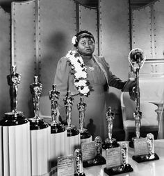 Hattie McDaniel was the first African-American to win an Academy Award. She received it for her role of Mammy in 'Gone with the Wind' (1939).