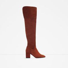 ZARA - WOMAN - OVER THE KNEE HIGH HEEL LEATHER BOOTS