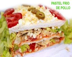 pastel frío de pollo !! Empanadas, Sandwiches, Pan Sandwich, Tacos, Mexican, Bread, Cooking, Ethnic Recipes, Food