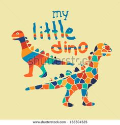Little dinosaurs slogan artwork for baby and boys wear by graphic7, via Shutterstock