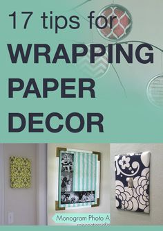 17 tips for wrapping paper decor