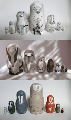 Russian Stacking Dolls from Irina Troitskaya