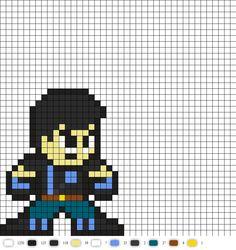 Agent Grayson DC Perler Bead Pattern