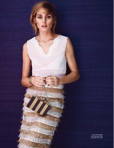 Olivia for Elle Malaysia. Top: Dior   Skirt: Max Mara   Bag: Kate Spade  Earrings and Bracelet: Jennifer Fisher