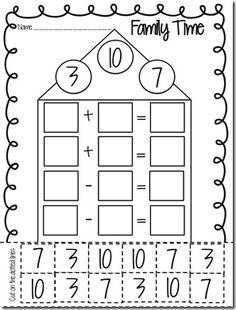 Kindergarten Excel. First Grade Math Practice Worksheets: Fact ...