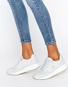 c02f5efa788e Shop Le Coq Sportif Grey Trainers With Glitter Sole at ASOS.