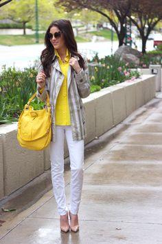 White, yellow & gray