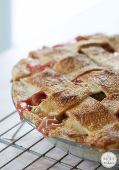 Strawberry Rhubarb Pie - a delicious summer favorite!