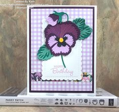 Birthday Cards For Women, Stamping Up Cards, Flower Cards, Pansies, I Card, Gift Tags, Card Stock, Christmas Cards, Card Making