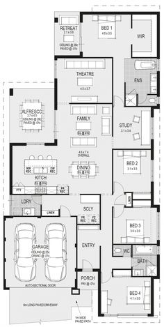 Plan Love this drop zone from the garage. groceries cupboard for kids school bags shoes etc Family House Plans, Bedroom House Plans, New House Plans, Dream House Plans, House Floor Plans, Home Design Floor Plans, House Blueprints, Architecture Plan, House Layouts