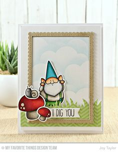You Gnome Me Stamp Set and Die-namics, End of the Rainbow Die-namics, Stitched rectangle Scallop Edge Frames Die-namics, Tag Builder Blueprints 5 Die-namics - Joy Taylor  #mftstamps