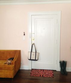 a lovely being - journal - apartmentupdate - such a pretty wall color - queen anne pink by benjamin moore