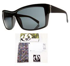 608c2750fb855 NEW Electric Riff Raff Matte Black Gray Gradient Mens Sunglasses Msrp 110
