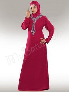 Beautiful Rose Pink Party Wear Abaya| MyBatua.com