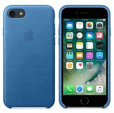 Apple iPhone 7 leren hoesje zeeblauw  SHOP ONLINE: http://www.purelifestyle.be/shop/view/technology/iphone-beschermhoezen/apple-iphone-7-zeeblauw-leren-hoesje