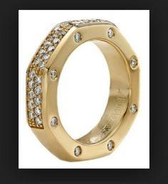 Ap Audemars Piguet Royal Oak Clique Ring 18k Yellow Gold