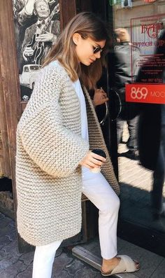 Search for chunky cardigan at ASOS. Shop from over styles, including chunky cardigan. Knit Fashion, Look Fashion, Winter Fashion, Womens Fashion, Mode Outfits, Fall Outfits, Casual Outfits, Fashion Outfits, Fashion Hacks