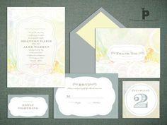#invitations #letterpress #watercolor