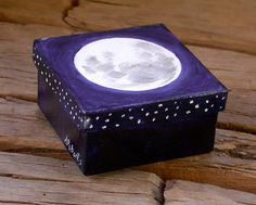 Paint/decorate a paper mache box.  It's perfect for an altar space or a Witchy cabinet.  )O(