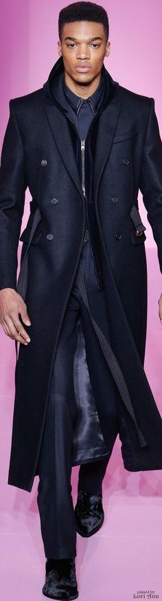 www.2locos.com Givenchy Fall 2016 men's monochromatic navy blue fashion