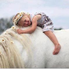 """A Little Cutie ~ On Horseback."""