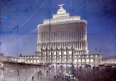 The White house in Moscow was based on the never built Aeroflot Building design by Chechulin from 1934.
