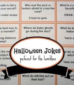 23 Halloween Jokes for Kids. Pumpkins, witches and monsters. What spooky creatures could make better Halloween jokes for kids? Here are 23 printable jokes!