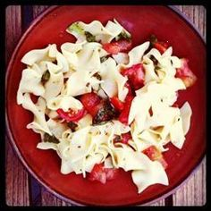 This Simple, Fresh Pasta Dish Makes A Great Light Lunch Or Supper, Especially When The Freshest Tomatoes And Herbs Are In Season. Just Toss Hot Cooked Pasta In A Light Vinegar And Oil Dressing With The Tomatoes, And Serve With Freshly Shredded Parmesan.