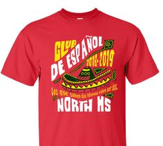 ea691251 High School Impressions SPC-002-W Custom Spanish Club T Shirts - Create your