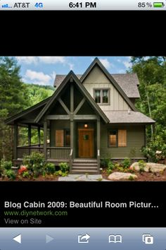 Love the cozy, colored cottage look!!