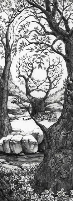 16 Ideas for cool art drawings illusions Optical Illusion Paintings, Illusion Drawings, Optical Illusion Images, Optical Illusion Tattoo, Illusion Pictures, Tree Drawings Pencil, Cool Art Drawings, Tattoo Girl Wallpaper, Tree Of Life Artwork