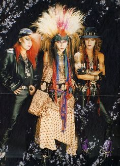 Pata, hide and Taiji. X Japan Hidden Love, Heavy Rock, Asian Kids, Dream Boy, Thing 1, Heavy Metal Bands, Blue Bloods, Actor Model, Love Pictures