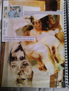 Sketchbook page 5 left side - Jenny Saville