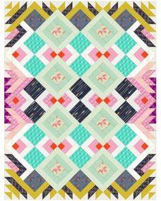 Cotton & Steel mustang quilt pattern @kartopka and @jilldonn