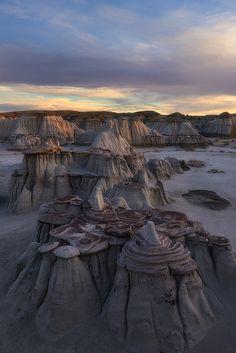 """Pancakes"" - Bisti/De-Na-Zin Wilderness area of New Mexico ~ David Thompson"
