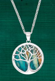 New for Fall - Scottish Heathergems Tree of Life Pendant, made in Scotland of pressed heather