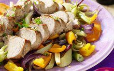 Fläskfilé med höstgrönsaker