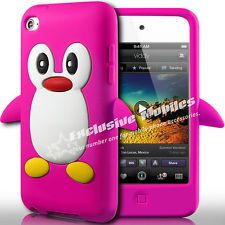PENGUIN SILICONE CASE COVER & SCREEN PROTECTOR FOR APPLE IPOD TOUCH 4TH GEN 4G