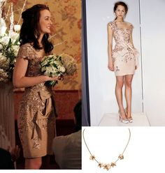 pretty much everything Blair Waldorf wears. But this cap sleeved elegant dress (Marchesa is stunning. Gossip Girls, Gossip Girl Dresses, Gossip Girl Outfits, Gossip Girl Fashion, Blair Waldorf Outfits, Blair Waldorf Gossip Girl, Blair Waldorf Style, Elegant Dresses Classy, Classy Dress